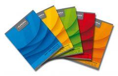 Caiet A5, 60file, dictando, diferite culori, Office Aurora