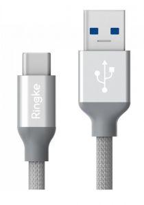 Cablu de date USB / USB-C, 1m, argintiu, Premium Ringke