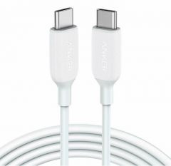 Cablu de date USB-C / USB-C, 1,8m, alb, PowerLine III Anker