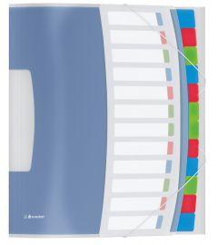 Mapa plastic cu 12 separatoare, diverse culori, Vivida Esselte