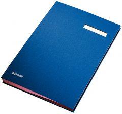 Mapa pentru semnaturi 20 file, albastru, Esselte