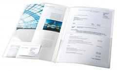 Mapa plastic de prezentare, transparent, 5buc/set, Esselte