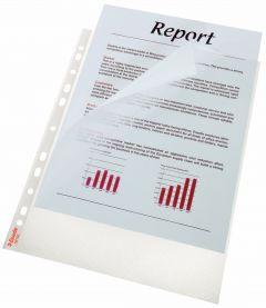 File de protectie A4, deschidere superioara si lateral stanga, transparent, 115 mic, 100/set, Esselt