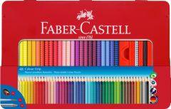 Creioane colorate in cutie metal 48culori/set, Grip 2001 Faber Castell-FC112448