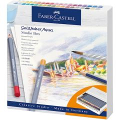 Creioane colorate, 40 piese/set, cutie studio, Aquarelle Goldfaber, Faber Castell