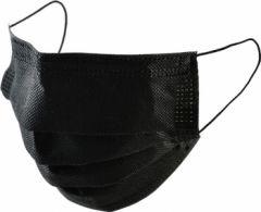 Masca medicinala de protectie tip 1, de unica folosinta, in 3 straturi, neagra, 50buc/set (certifica