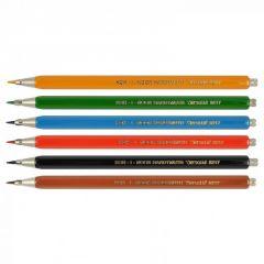 Set creioane mecanice, 6buc/set + guma, 2mm, cutie metal, 5217 Koh-I-Noor