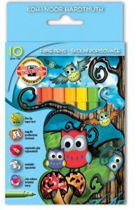 Carioca 10 culori/set, Owls Koh-I-Noor