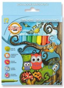 Carioca 12 culori/set, Owls Koh-I-Noor