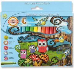 Carioca 18 culori/set, Owls Koh-I-Noor