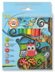 Carioca 24 culori/set, Owls Koh-I-Noor