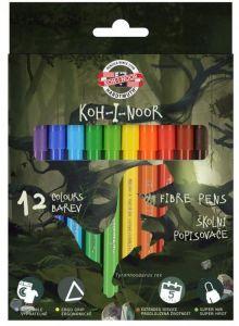 Carioca 12 culori/set, Dino Koh-I-Noor
