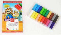 Plastilina 20 culori/set, 400g, cutie carton, Koh-I-Noor