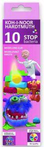 Plastilina 10 culori/set, 200g, Stop Bacteria Koh-I-Noor