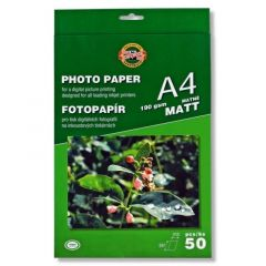 Hartie photo ink jet, mat, A4, 190g, 50 coli/top, Koh-I-Nor