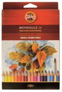 Creioane colorate acuarela, 36culori/set, fructe, Mondeluz Aquarell, Koh-I-Noor