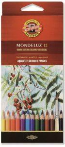 Creioane colorate acuarela, 12culori/set, fructe, Mondeluz Aquarell, Koh-I-Noor