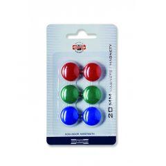 Magneti, 20mm, culori asortate, 6buc/set, Koh-I-Noor