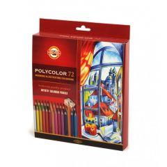 Creioane colorate 72culori/set + ascutitoare + 2 creioane, Polycolor Koh-I-Noor