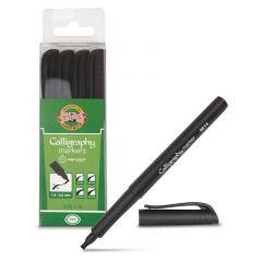 Permanent marker pentru caligrafie, negru, 4buc/set, Koh-I-Noor
