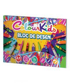 Bloc desen A4, 16file, 120g/mp, Colour Kids Pigna