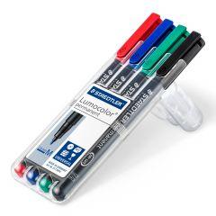 Permanent marker 4 culori/set, varf 1,0 mm, Lumocolor 317WP4 Staedtler