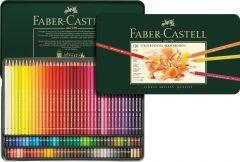 Creioane colorate 120culori/set, cutie metal, Polychromos Faber Castell-FC110011
