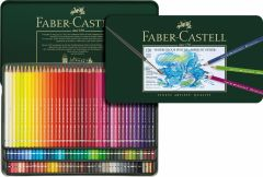 Creioane colorate acuarela, in cutie metal, 120culori/set, A.Durer Magnus, Faber Castell-FC117511