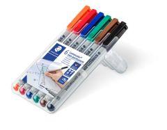 Non-permanent marker 6 culori/set, varf 0,6 mm, Lumocolor 316WP6 Staedtler