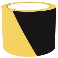 Banda delimitare si semnalizare, negru/galben, 75mm x 100m, Office Products