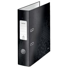 Biblioraft 8cm, negru metalizat, 180 grade Wow Leitz