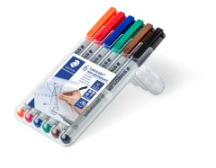 Non-permanent marker 6 culori/set, varf 0,4 mm, Lumocolor 311WP6 Staedtler