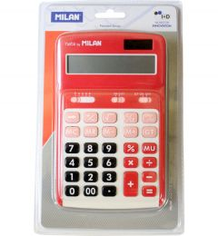 Calculator de birou 12 digit, rosu, Milan 150712RBL