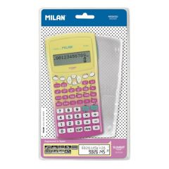 Calculator de birou, stiintific, 10+2dig, galben/roz, Milan 159110