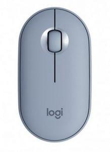 Mouse optic, wireless, 3 butoane si 1 scroll, blue grey, M350 Pebble Logitech