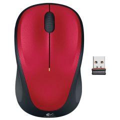 Mouse optic, wireless, 3 butoane si 1 scroll, rosu, M235 Logitech