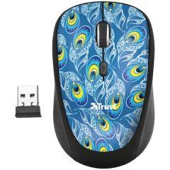 Mouse optic, wireless, 4 butoane si 1 scroll, peacock, 23388 Yvi Trust
