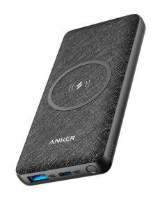 Baterie externa, 10000mAh, conectivitate USB si USB-C, incarcare wireless, negru, Anker PowerCore Se