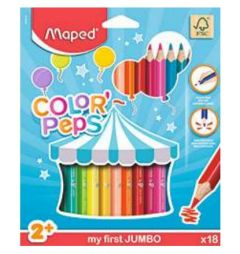 Creioane colorate 18culori/set, Color Peps My First Jumbo Maped (FSC)