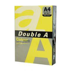 Hartie copiator A4, 80g, 25coli/top, colorata in masa galben intens, Double A