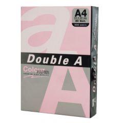 Hartie copiator A4, 80g, 25coli/top, colorata in masa roz deschis, Double A