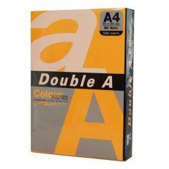 Hartie copiator A4, 75g, 100coli/top, colorata in masa portocaliu neon, Double A