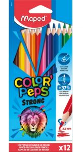 Creioane colorate 12culori/set, Color Peps Strong Maped