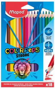 Creioane colorate 18culori/set, Color Peps Strong Maped