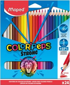 Creioane colorate 24culori/set, Color Peps Strong Maped