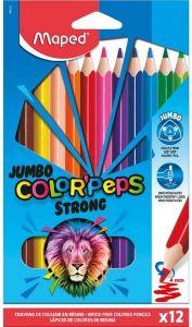 Creioane colorate 12culori/set, Color Peps Strong Jumbo Maped