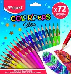 Creioane colorate 72culori/set, Color Peps Star Maped