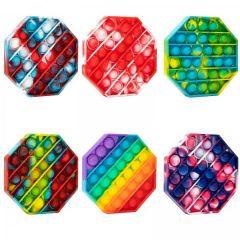 Jucarie antistres Pop It Now and Flip It, model hexagon, Push Bubble