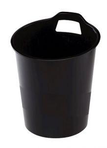 Cos plastic pentru gunoi, negru, 15L, G2desk Fellowes