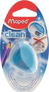 Ascutitoare simpla, albastra, blister Clean Maped